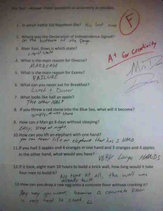 School Test Results- Epic Fail